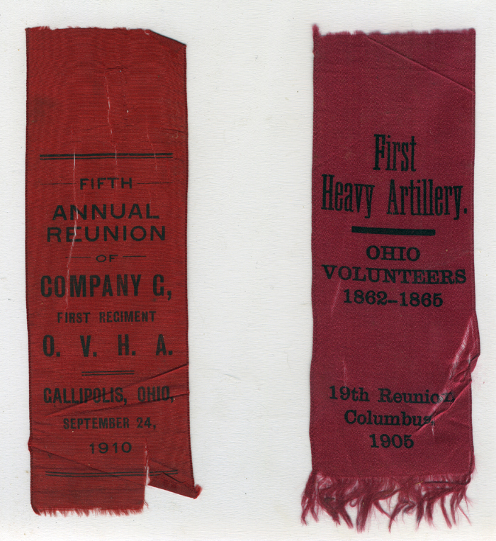 Original reunion ribbons owned by W.G. Tope